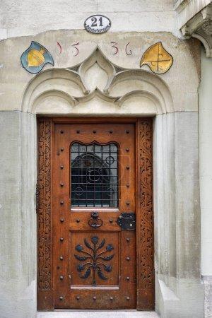 Medieval door in Lucerne, Switzerland