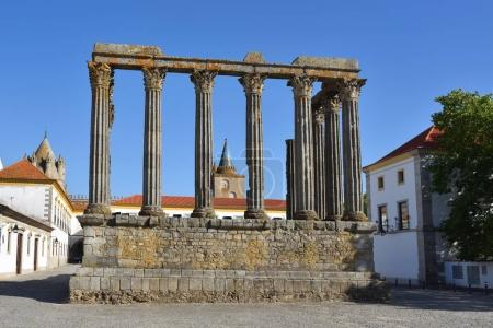 The Roman Temple of Evora also referred to as the Templo de Dian