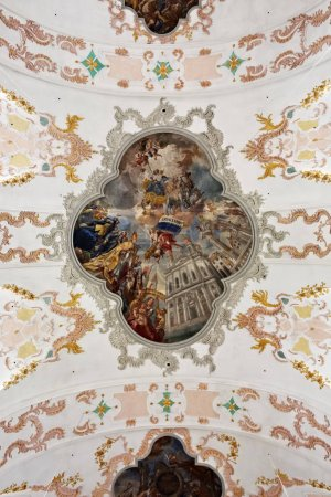 St. Leodegar cathedral in Lucerne interiors, Switzerland