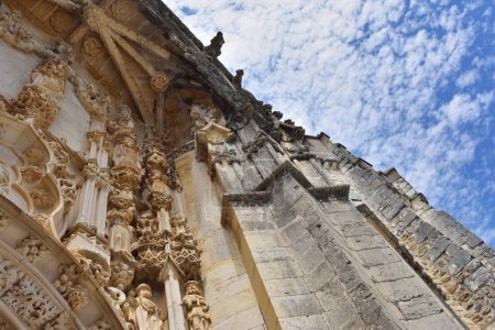 Convent of the Order of Christ in Tomar Portugal, stone detail