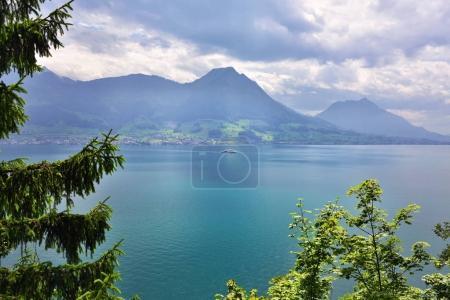 Landscape of the lake Luzerne, Switzerland