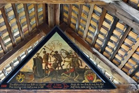 Spreuer Bridge ancient painting Dance of Death, Lucerne, Switzer