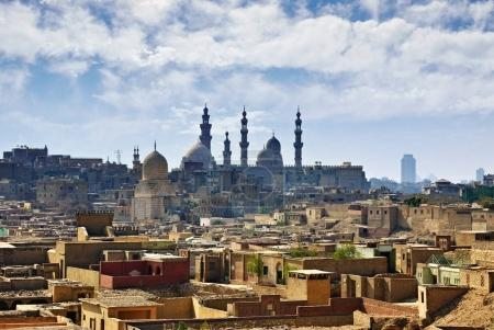 Cairo cityscape. Old city and the Mosque of Sultan...