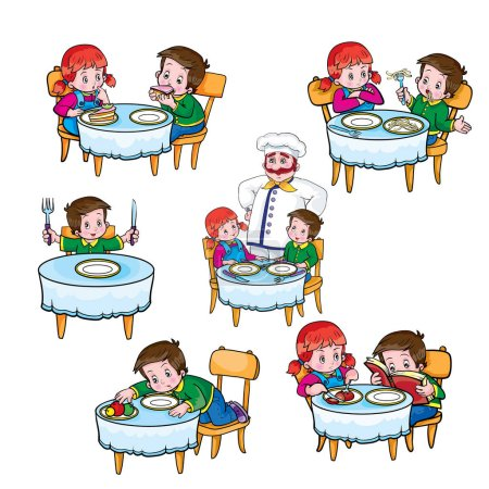 Illustration for Rules of conduct at the table,vector illustration - Royalty Free Image