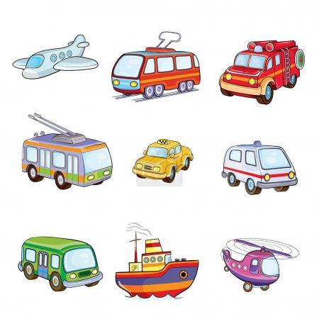 Illustration for Set of toy  transport.Vector ilustration - Royalty Free Image