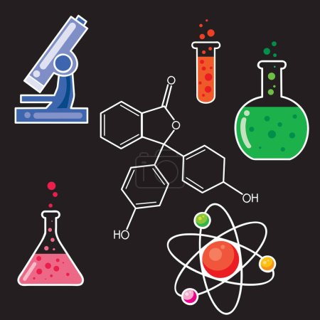 chemical accessories icons