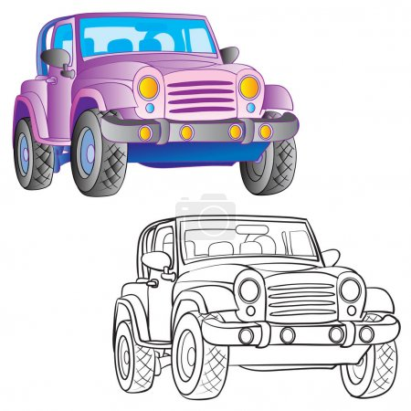 pattern with two cars