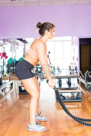 woman getting into shape