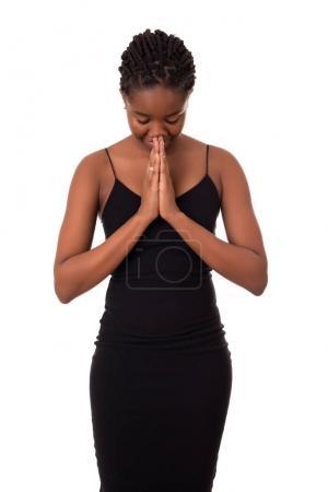 African student praying