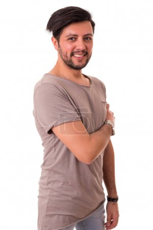 handsome man in casual t-shirt