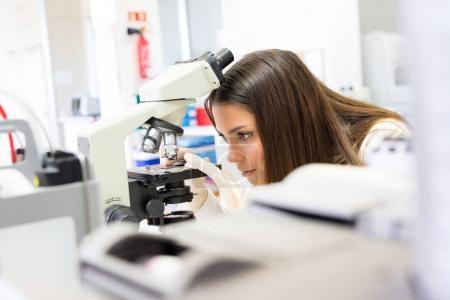 Woman scientist at laboratory