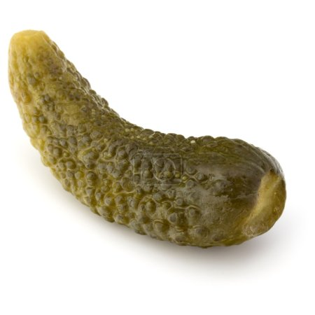 pickled or marinated cucumber isolated