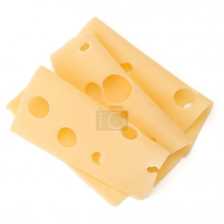 cheese slices isolated