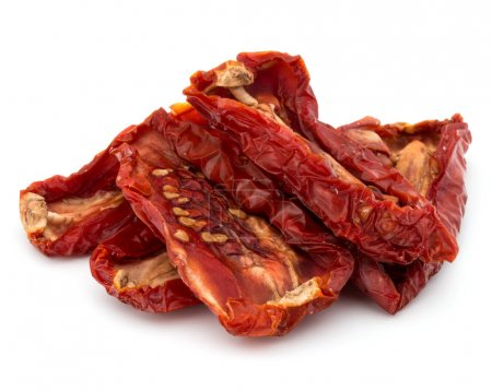 Dried tomatoes isolated