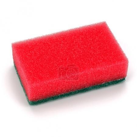 red clean sponge