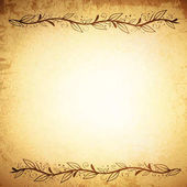 Natural Leaf Border or Frame Vintage Background Copyspace