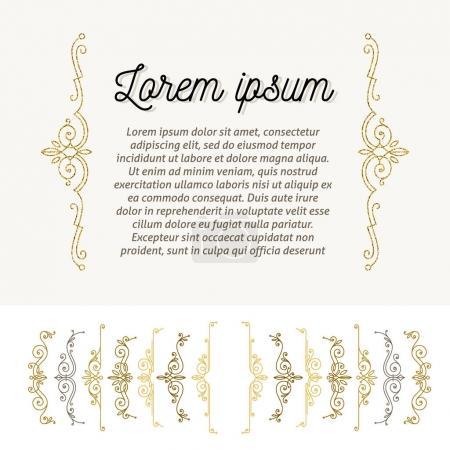 Set of ornamental flourishes braces