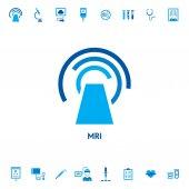 MRI Diagnostic Vector Icon