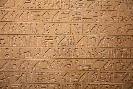 Egyptian Hieroglyphs on wall
