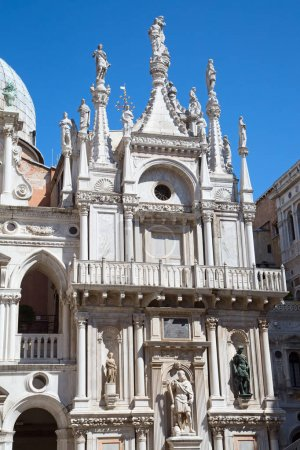 Facade of Doge palace in Venice, Italy...
