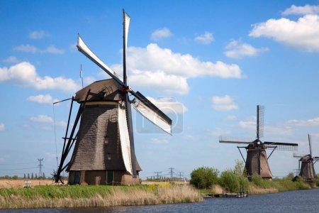 Ancient windmills near Kinderdijk