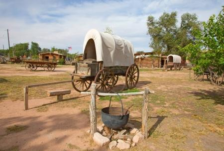 Historical outpost of the Wild West Pioneers