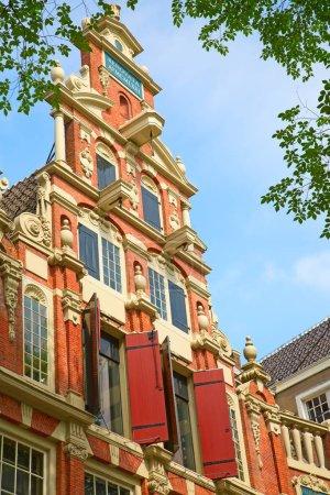 Photo pour Maisons traditionnelles d'Amsterdam, Pays-Bas - image libre de droit