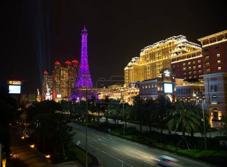 Facade of the Parisian casino