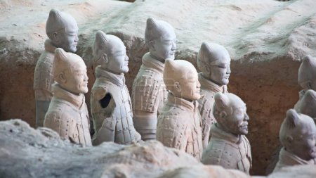 Famous Terracotta Army in Xi'an