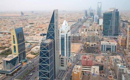 Photo for Riyadh, Saudi Arabia - FEBRUARY 29, 2016: Aerial view of Riyadh downtown. - Royalty Free Image