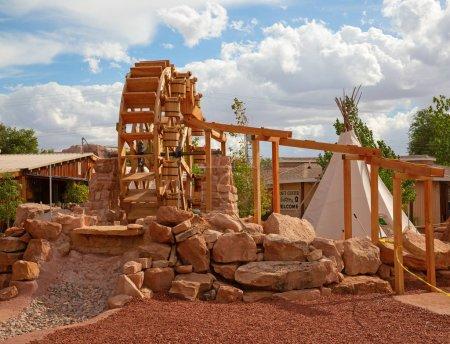 Photo pour Avant-poste Historial des pionniers du Far West sur la frontière entre l'Arizona et l'Utah. - image libre de droit