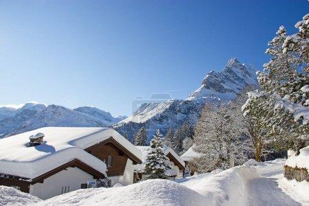 Photo pour L'hiver dans les Alpes suisses, Suisse . - image libre de droit