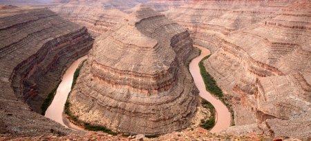 Goosenecks state park on San Juan river in Utah, USA.