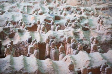XIAN, CHINA - October 8, 2017: Famous Terracotta Army in Xian, China.