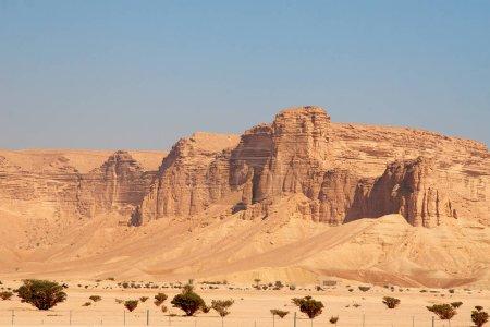 Photo for Clay rocks surrounding Riyadh city in Saudi Arabia. - Royalty Free Image