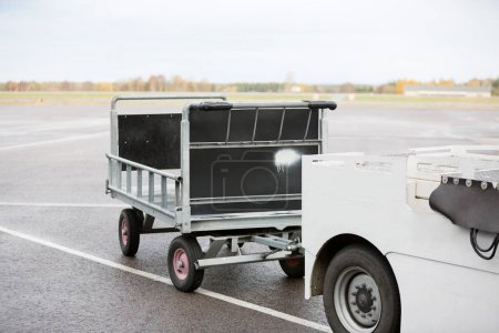 Vehicle With Trailer On Runway