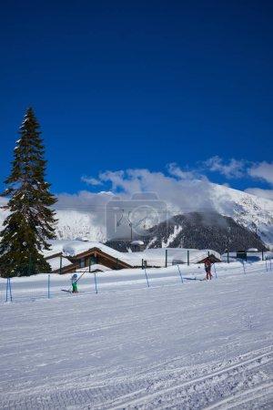 Mountains ski resort Caucasus- nature and sport background .