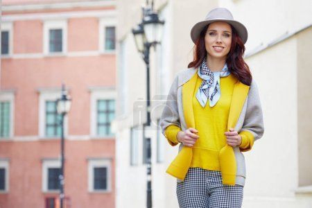Fashionably dressed woman
