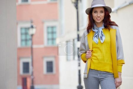 fashion outdoor photo of beautiful woman