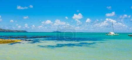 amazing white beaches of Mauritius island.