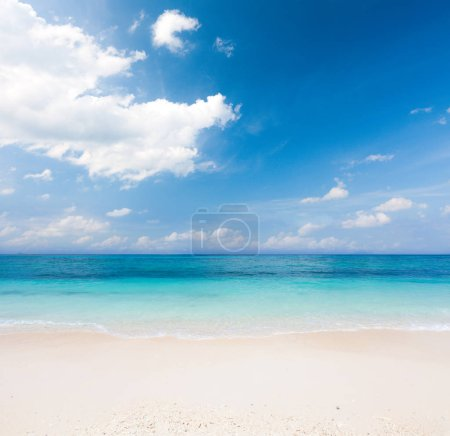 tropical sandy beach and sea