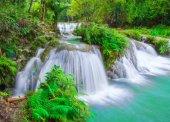 Beautiful waterfall in colorful mountain