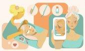 eyelash extension illustration