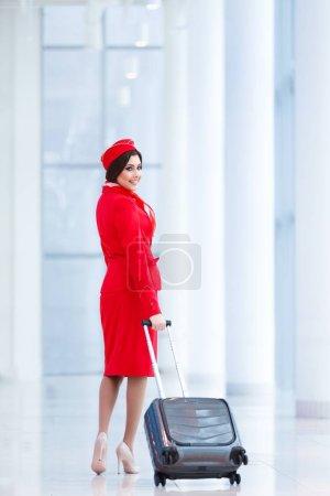 Stewardess at airport