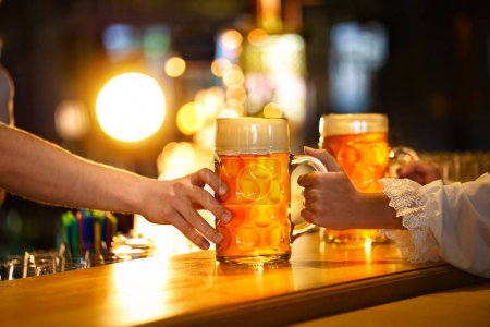 Beer mugs indoors
