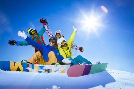 Winter sports outdoors