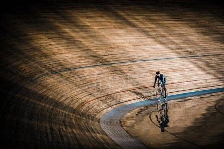 Sportsman at velodrome