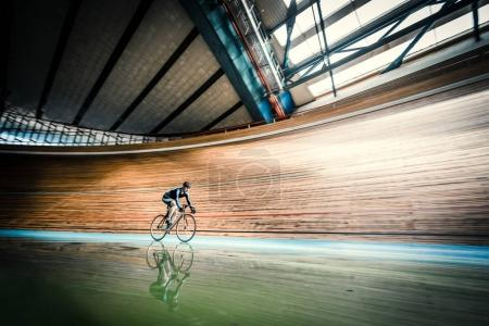 Racing cyclist indoors