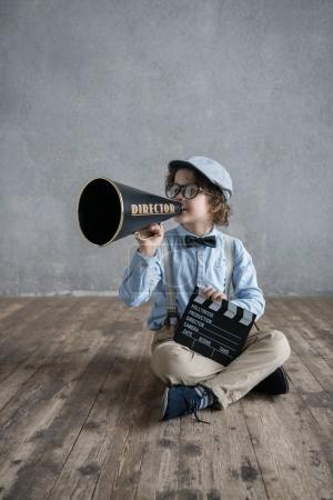 Boy with megaphone
