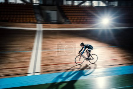 Sportsman on a velodrome